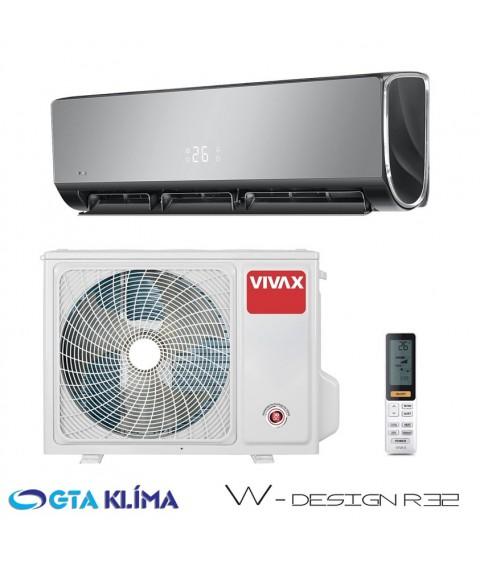 Nástenná klimatizácia VIVAX W-DESIGN ACP-12CH35REWI GREY MIRROR s Wifi R32 3,5kW